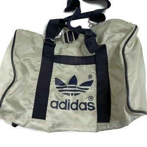 Adidas Trefoil Logo White Navy Vintage Gym Bag
